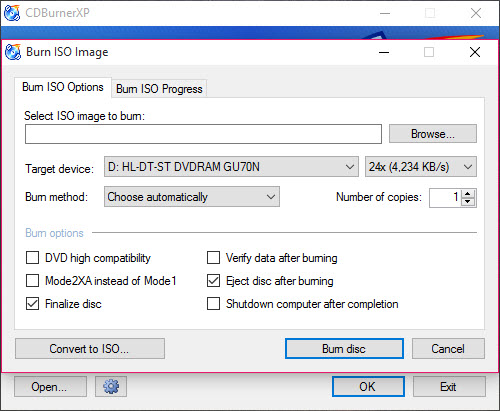 Free CDs and DVDs Burning Software - CDBurnerXP | Softmazing
